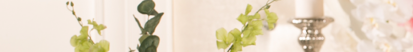 Candle 7 Flower Banner